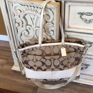 Large Coach Signature diaper bag